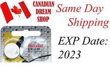 1 PC Fresh MAXELL CR1620 DL1620 3V lithium batteries battery Hologram EXP:2023