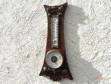 Jugendstil Haselnuss Wetterstation Jul Walbrecht Elberfeld Barometer Thermometer