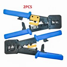 2Pcs Rj-45 professional crimp tool, ethernet crimp cutter for ez end pass