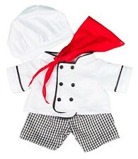"Chef Costume Cook Costume Teddy Bear Vêtements se adapte 15"" Build a Bear"