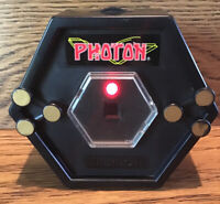 Photon Laser Tag Target Vintage 1986 Lights Up, W/ Battery Cover Belt Clip Good
