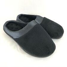 Joan Vass Womens Clog Slippers Slides Slip On Fleece Black Size XL 10.5-11