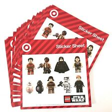 Lego Star Wars Sticker Sheets Lot New 3D Kids Cards Crafts Character Figure Free