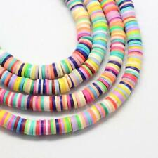 200 Mixed POLYMER FIMO CLAY Round spacer BEADS 6mm  Flat