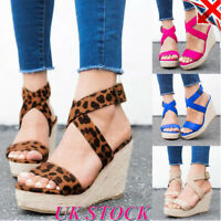 Summer Women Ankle Strap Buckle Sandals Ladies  Platform High Heels Shoes