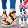 Summer Women Ankle Strap Buckle Sandals Ladies  Platform High Heels Shoes