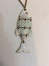 Betsey Johnson Brass-Tone Fish Pendant Necklace $42 BG 4