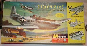 MONOGRAM F-51D COMPLETE UNSTARTED DECENT BOX DECALS TOAST