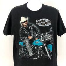 Vintage Alan Jackson Purple and Black T-shirt Harley Davidson Extra Large XL