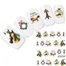 TATTOO unghie Sticker Adesivo CAVALLO HORSE NAIL ART UNGHIE