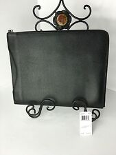 "COACH F63315 Slim Zip 10"" Universal Tablet Case Crossgrain Leather Black NWT"