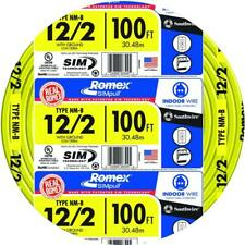 Southwire Simpull Cu Nm B Withg Wire 12 Gauge Yellow Heat Resistant 100 Ft Length