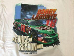 2003Vintage NASCAR Shirt Bobby Labonte interstate Jumbo Print Shirt NOS XL
