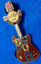 KONA HAWAII MAY DAY HAWAIIAN LEI WARRIOR TRIBAL SPEAR GUITAR Hard Rock Cafe PIN