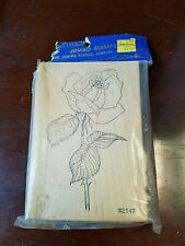 Rare, Comotion, jumbo rubber stamp, Rose.  New