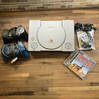 PlayStation One PS1 Original Console SCPH-7501 W/ 2 remotes Works