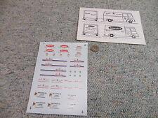 Microscale decals HO 87-385 Svenhards Jag's diesel Langendorf  etc vans  H108