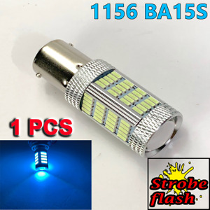 Strobe 1156 BA15S 7506 P21W Super Bright Ice Blue 92 LED Reverse Backup Y1 GM A