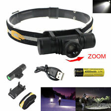 Zoomable 15000Lm XM-L2 LED  4 Modes Headlamp Hunting Camping Headlight USB Torch