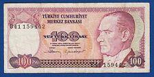 TURKEY BANKNOTES, 100 LIRA 1970, B SERIAL, yüz türk lirası !