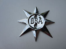 BSA C15 B40 A50 A65 TIMING COVER STAR PLATE BADGE EMBLEM 500cc 650cc 68-0321