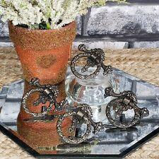 Vintage Vanity Table Knocker Style 4 Drawer Pulls Handles Wreath Laurel 50s