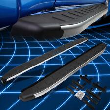 5.75' Metallic/Black Running Board Nerf Step Bars for 2009-2014 Nissan Murano