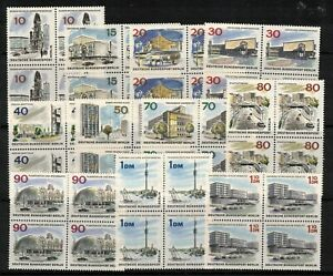 GERMANY(BERLIN) 1965 NEW BERLIN 11(EX 60pfg) BLOCKS 4 MNH