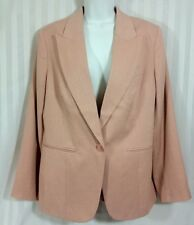 Excellent! CHICO'S Light Pink Work Career Blazer Jacket Size 1