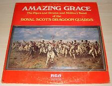 AMAZING GRACE THE PIPES AND DRUMS ROYAL SCOTS DRAGOON GUARDS 1972 RCA AFL1-4744