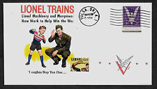 1942 War Time Lionel Trains WWII Ad Featured on Collector's Envelope *A466