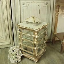 Quadrato grande in legno CANDELA LANTERNA SHABBY CHIC VINTAGE Casa Giardino Luce da matrimonio