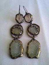 Beautiful Vintage Crystal Gemstone Surgical Steel Earwire Earrings