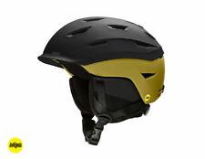 Smith Level MIPS Snow Helmet - Men's - Matte Black / Mystic Green - Small