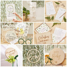 Baby Shower Party Decorations Luxury Botanical Baby 'Hey Baby' Range (BAB)