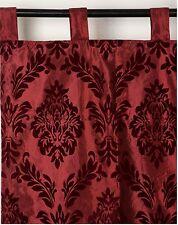 2er Set Vorhang Schlaufenschal rot  *Ornament Barock* Satin  250 x 140 cm