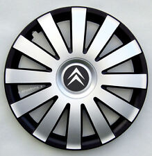 "Black/Silver 14"" wheel trims to fit Citroen  C1,C2,Saxo,Berlingo (SET OF 4)"