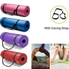Толщиной 15 мм коврик для йоги упражнений и фитнеса пилатеса кемпинг тренажерный зал медитация подушечка нескользящая