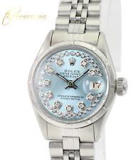 Rolex Lady  Datejust 26mm Ice Blue Diamond Dial Engine Turned Bezel Watch
