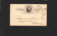 W Penn Coal Co Colliery SHAFT Pa 1888 Duplex Ellipse Jefferson Postal Card ZU