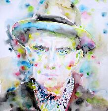 VLADIMIR MAYAKOVSKY portrait-ORIGINAL watercolor PAINTING! majakovskij futurism