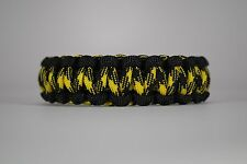 550 Paracord Survival Bracelet Cobra Black/Bumblebee Camping Tactical