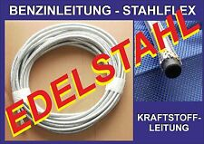 8mm EDELSTAHL V2A Stahlflex Benzinleitung Kraftstoffleitung ROSTFREI VW OPEL