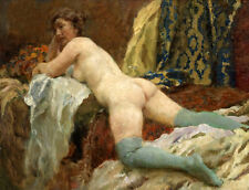 Art Oil painting nude women on bed free shipping don't miss it