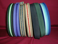 """1"""" - 1 Inch  Wide Fancy Sewing Elastic  5 Metres - Various Colours"""