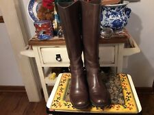 d6e67f306fb2 Me Too DEEDEE Womens Boots Tall US Size 8 M Brown Leather Riding boots