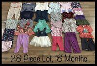 Toddler Girls Clothing Lot, 28 Items, 18 Months, Carter's, Oshkosh, Miniwear