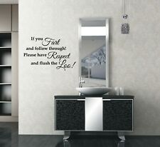 Toilet Stickers Bathroom Art Interior Wall Stickers Wall Quotes Wall Art UK 32z