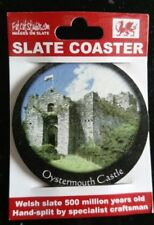 Welsh Slate Coaster Oystermouth Castle Mumbles Swansea Fat Cat Studios Brand New