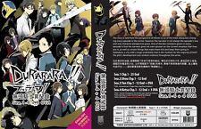 Durarara!! (Season 1 -4 (Vol.1-61 end) + 4 OVA) DVD with English Dubbed